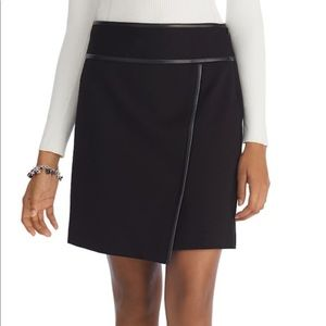 White House Black Market wrapped black mini skirt